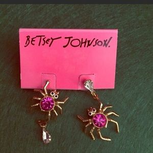 Betsey Johnson spider earrings